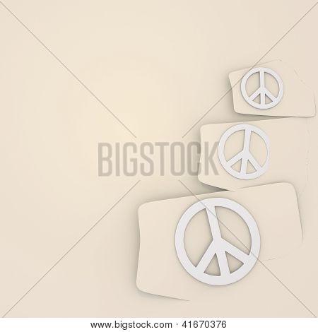 isolated peace symbols background