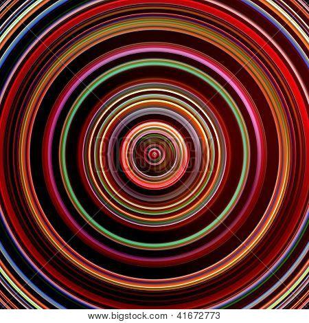 Dark red color circles digital illustration.