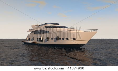 modern luxury yacht