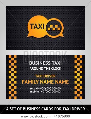 Business cards - taxi