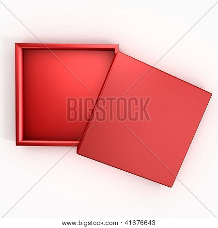 Empty Red Chocolate Box