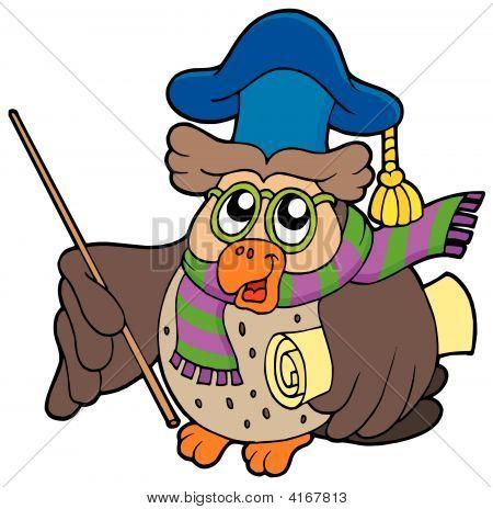 OWL Lehrer mit Pergament