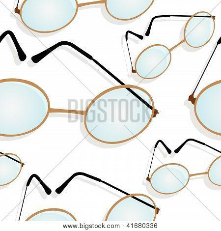 Glasses Shadowed Pattern