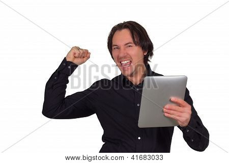 Jubilant Man Celebrating