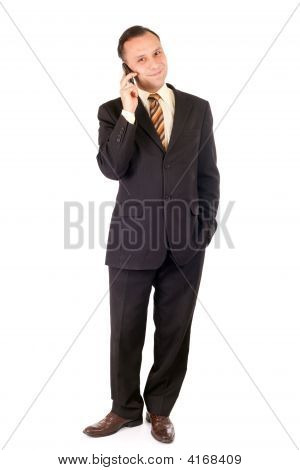 Businessman And Cellphone