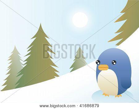 Abstract Penguin Scene