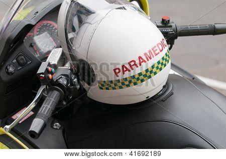 Paramedic Helemt On A Motorbike