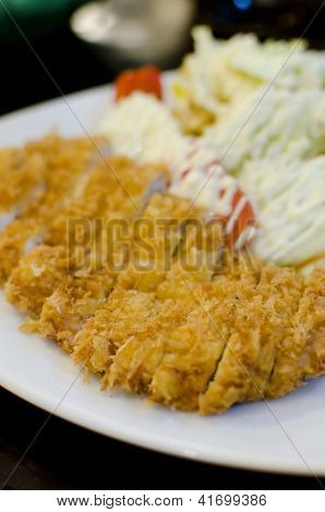 Japanese Breaded Deep Fried Pork Cutlet