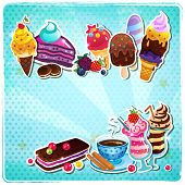 image of ica  - Retro Ice cream menu - JPG