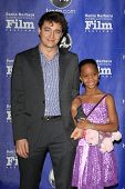 SANTA BARBARA - JAN 29: Benh Zeitlin, Quvenzhane Wallis at the Virtuosos Awards at the 28th Santa Ba