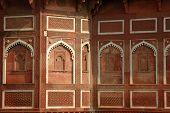 Beautiful Ornate Wall Inside Agra Fort,famous Landmark And Unesco Heritage Site,uttar Pradesh,india poster