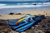 stock photo of papagayo  - Snorkeling Equipment  - JPG