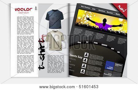 Magazin design. Vector