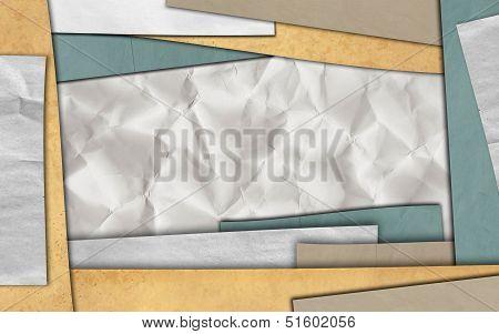 Paper frame background for design