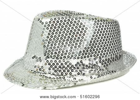 Silver sequin party hat