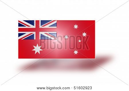 Flag Of Australia Red (stylized I).