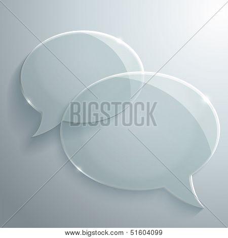 Abstract Glass Speech Bubbles