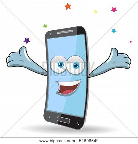 Vector Cell Mobile Mascot