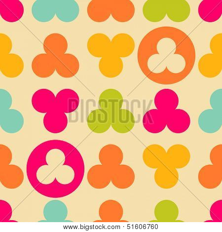 Vintage trefoil abstract seamless pattern