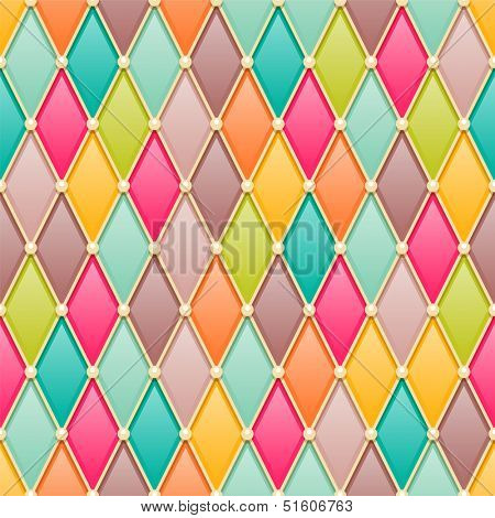 Vintage diamonds / rhombus seamless pattern