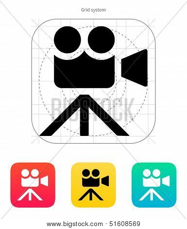 Movie camera icon.