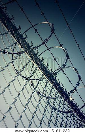 Large metal fence