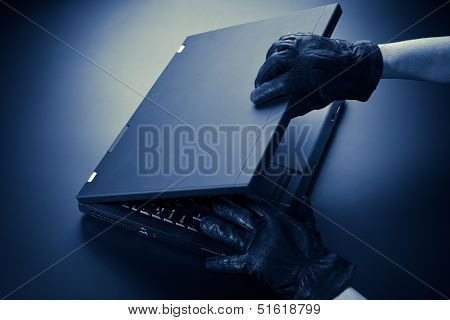 Thief Opening A Computer