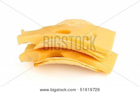 Potato Chips With Cheese Slices