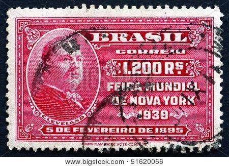 Postage Stamp Brazil 1939 Stephen Grover Cleveland