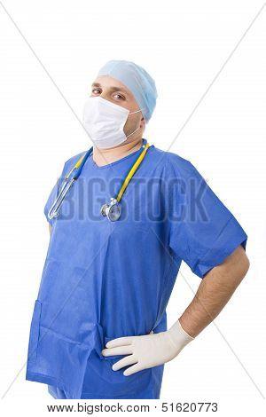 Caucasian Doctor Laughing