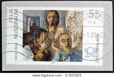 A stamp printed in Germany shows
