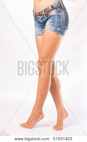 legs and jeans shorts