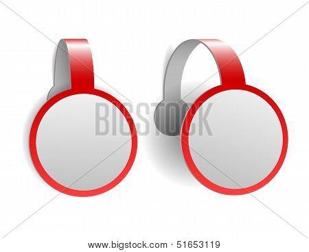Red advertising wobblers