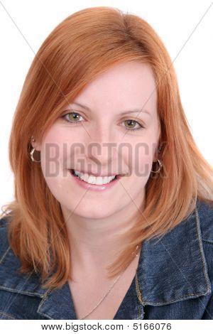 Pretty Redhead Headshot