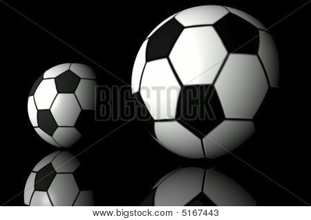 Fooball. 3D Graphic