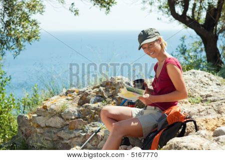 Woman Hiking