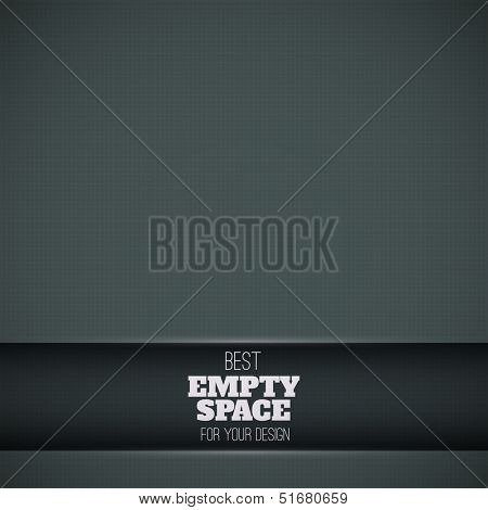 Black background with plate for text