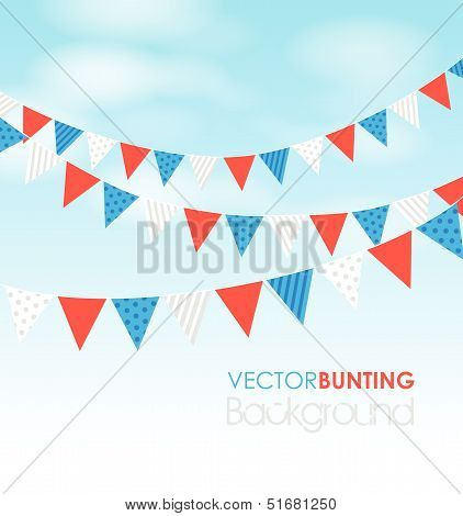 Red Blue Bunting