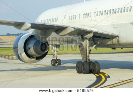 Airplane Engine Close