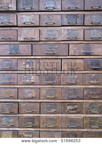 Old Wooden Archive Boxes