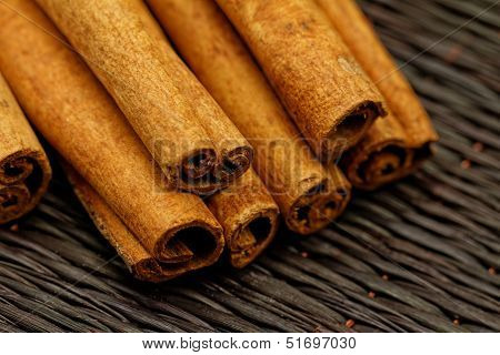 Cinnamon Sticks Closeup