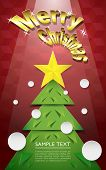 foto of pentacle  - Merry Christmas lettering with Christmas tree - JPG