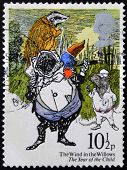 A stamp printed in Great Britain shows The Wind in the Willows (Kenneth Grahame)