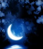 picture of crescent  - Night fairy tale  - JPG