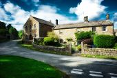 stock photo of hamlet  - The hamlet of Hollinsclough in the Peak District - JPG