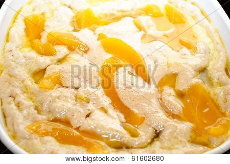 Uncooked Peach Cobbler