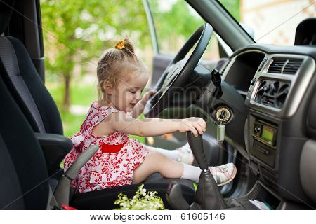 Little Girl In The Car