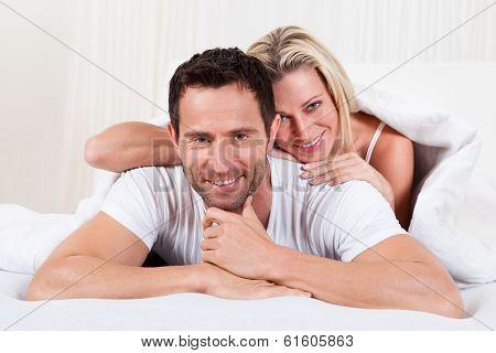 Smiling Romantic Couple