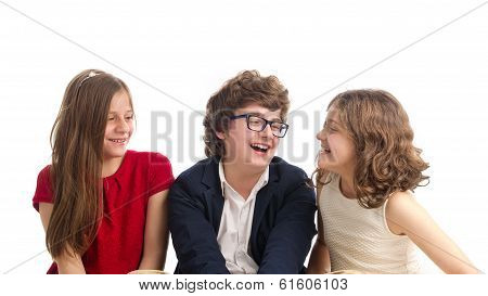Beautiful Portrait of Brother and two Sisters