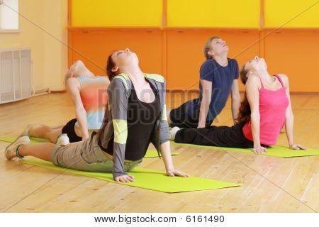 Bending Backs In Group Aerobics